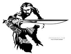 Thorin Stencil by Saintbirdy.deviantart.com on @deviantART