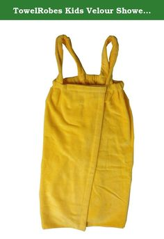 TowelRobes Kids Velour Shower Wrap With Shoulder Straps ,100% Absorbent Cotton. TowelRobes Terry Velour Kids body wrap made of 100% Super Water Absorbent Cotton.Eleasticized with shoulder straps to provide to secure fit, It has a self fabricTerry cloth inside velour ourside,machine washable adjustable velcro closure, available color: White,Lavender,Light Pink,Lime,Orange,Red,Aqua,Hot Pink,Purple, Yellow. you will love wearing this bathrobe day in and day out.