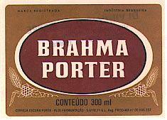 Brahma Porter - beer label