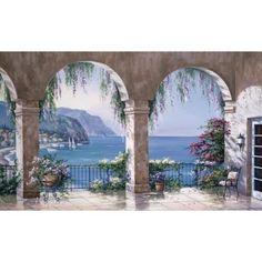 Mediterranean View Wall Mural   $83.09