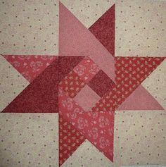 Kathy's Quilts: Saturday Sampler #19 Four Patch Star by Lynn Schieffebein.