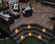 TimberTech® Legacy® Deck Boards Deck Color: Tigerwood with Mocha accents RadianceRail System: Kona