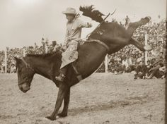 Part of our History!  Mr. Paul Bond back in his Rodeo Days