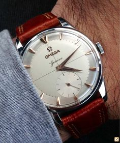 Stunning Vintage Omega Geneve Manual Wind Dress Watch Circa 1950s :: via omegaforums