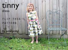 sewpony: Flip this pattern: Tinny dress