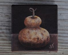 Mini Canvas Gourd Painting by SugarCreekArt on Etsy,