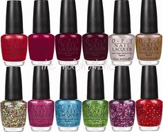 the holiday 2011 OPI line inspired by THE MUPPETS-! i want every single color. ESPECIALLY warm&fozzy, rainbow connection, and gettin' miss piggy with it.