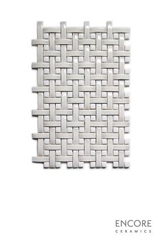 Encore Ceramics | Mini Crescendo Basketweave mosaic hand-glazed in dimensional Silver crackle and dimensional Milk gloss | Sustainably made in Oregon Basket Weave Tile, Basket Weaving, Mosaic Patterns, Design Inspiration, Design Ideas, Oregon, Neutral, Milk, Ceramics