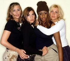 The way they were: Nicole and Melanie (pictured with bandmates Shaznay Lewis and Natalie Appleton) in 1998 Natalie Appleton, Nicole Appleton, All Saints Band, Shaznay Lewis, Famous Musicals, Girls Club, Girl Bands, Britney Spears, Celebrity News