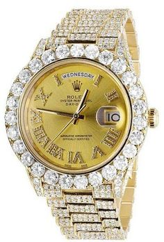 Rolex Day-Date II President 228238 18K Yellow Gold 30.50 Ct Diamond 40mm Watch