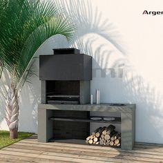 Barbacoa_obra_Monacoa_amb_pica – Rebel Without Applause Outdoor Bbq Kitchen, Outdoor Barbeque, Terrasse Design, Patio Design, Modern Outdoor Fireplace, Outdoor Living, Design Barbecue, Parrilla Exterior, Built In Braai