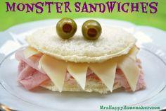 Easy Monster Sandwiches
