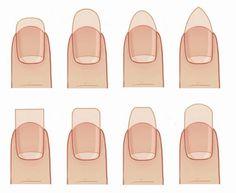 Las diversas formas que puedes darle a las uñas, escoge la que mas te agrade