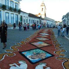 São João del Rei - Brazil - tapetes Semana Santa (Oficinas Artes da Terra)