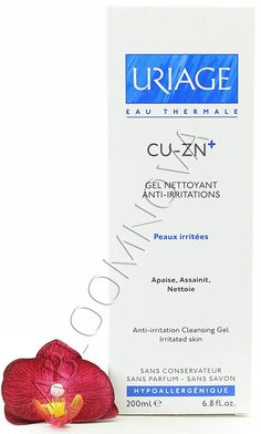 Uriage Cu-Zn+ Gel Nettoyant Anti-Irritations - Anti-Irritation Cleansing Gel 200ml - This ultra-rich, soothing and purifying cleansing gel, which transforms into a rich lather, is specially formulated to cleanse irritated skins. #Uriage #cleansing #gel #cleanser #skincare #irritated