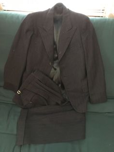 Made in 1935, Heidelberg, Germany by Jac. Outlier, tailor for Karl Heller as shown in the label which is stitched into an inside pocket. Jacket features two interior pockets, two outer pockets, one with an interior coin pocket, and breast pocket. | eBay!