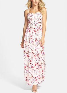 Very happy that it's maxi dress season! Will wear this pink floral beauty on the weekend.