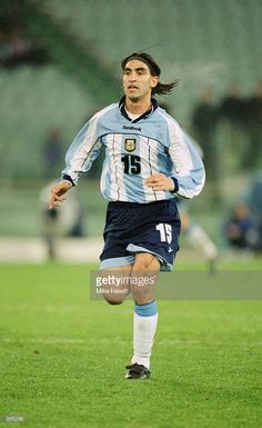 Claudio Husain of Argentina in action during the International Friendly match against Italy played at the Stadio Olimpico, in Rome, Italy. Argentina won the match 2-1. \ Mandatory Credit: Mike Hewitt /Allsport