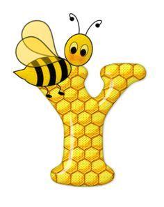 Alphabet letters bee on honeycomb. Alphabet Art, Alphabet And Numbers, Scrapbook Letters, Bumble Bee Birthday, Cartoon Clip, Cute Bee, Bee Design, Bee Happy, Preschool Crafts