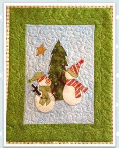 Snow Much Decorating Mini PDF Pattern from Quilt Doodle Designs Christmas Quilt Patterns, Christmas Applique, Christmas Sewing, Christmas Projects, Christmas Quilting, Small Quilts, Mini Quilts, Easy Quilts, Snowman Quilt