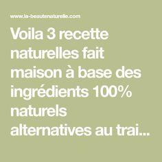 Voila 3 recette naturelles fait maison à base des ingrédients 100% naturels alternatives au traitement de Botox pour lisser la peau du visage et atténuer les rides (un coup de jeune instantané).