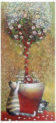 melusineh: (via Épinglé par Diane Paul sur cat art | Pinterest)