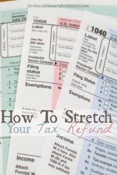 If you are receiving a tax refund and you are looking for ways to stretch your tax refund I got the answers for you. #Tax