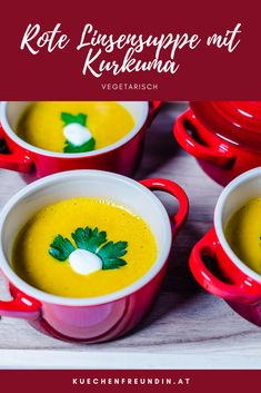 The party soup No. 1 - vegetarian or for meat eaters served with a few fried bacon cubes. Protein Breakfast, Breakfast Recipes, Mexican Food Recipes, Vegetarian Recipes, Red Lentil Soup, Starchy Foods, Cooking Black Beans, Best Oatmeal, Steak And Eggs