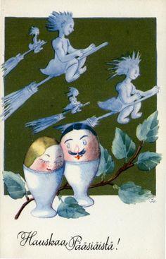 Kirjavälitys Oy, #pääsiäinen #postikortit #Easter Snowman, Disney Characters, Fictional Characters, Easter, Painting, Art, Craft Art, Painting Art, Kunst