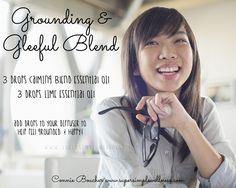 #Grounding and #Gleeful Blend: 3 drops #CalmingBlend #essentialoil, 3 drops #Lime #EO. Add drops to your #diffuser to help feel #grounded and #happy! #EOblend #EOlove #happiness #diffuserblend #uplifting #smiling #ConnieBoucher #SuperSimpleWellness #author #essentialoils #health #chakra #wellness #choosehappiness