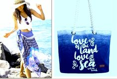 Beach Time Assessories Beachwear, Reusable Tote Bags, Stylish, How To Wear, Fashion, Fashion Styles, Beach Outfits, Fashion Illustrations, Trendy Fashion