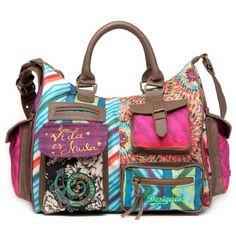 Popular classic 2013 desigual canvas big bag vintage one shoulder  cross-body women s handbag Cheap 908518507e