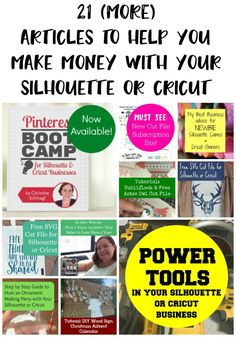 Pin now, read later! 21 More Articles to Help You Make Money with Your Silhouette Cameo or Cricut Explore - by cuttingforbusiness.com