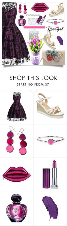"""Rosegal  65"" by nejra-l ❤ liked on Polyvore featuring Encanto, Marc Jacobs, Maybelline, Summer, dress, promotion and rosegal"