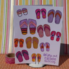 Funny Birthday Card Don't Flip Out, It's Just a Birthday Greeting Card by PlaysNicelyWithPaper on Etsy
