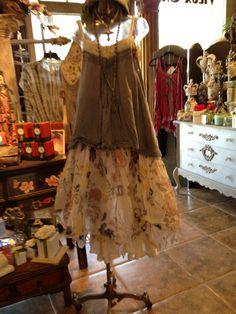 Ewa Walla skirt &.bloomers Magnolia Pearl top Adorne long necklace Tuscon pearl cross