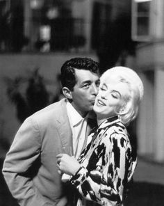 Dean Martin and Marilyn Monroe. Martin refused to continue working on 'Something's Got to Give' after Monroe was fired for chronic absenteeism.