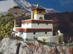 Tibetanisches kloster , handgemacht<br />1/160,Tibetanisches kloster in Schleswig-Holstein - Böel