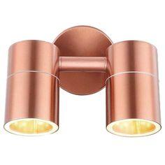 Kinkiet LAMPA ścienna STYLE 32071-2 Globo miedziana OPRAWA spot IP44 tuba miedziana