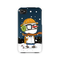 """""""Snow Boy may be the world's only student who dreads summer vacation. This wonderful wintry iPhone case will protect your device from harm without adding unwanted bulk and weight."""" by anissastein  $45.99 Iphone 4, Iphone Cases, Your Best Friend, Dreads, Robots, Special Gifts, Student, Snow, Graphics"""