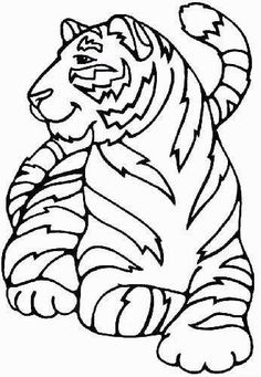 tiger coloring pages for kids print and color the pictures - Pictures Of Animals For Kids To Color