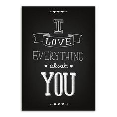 Inspirational Minimalist Love Quote Poster Canvas Wall Art 9 Sizes 2 Colors