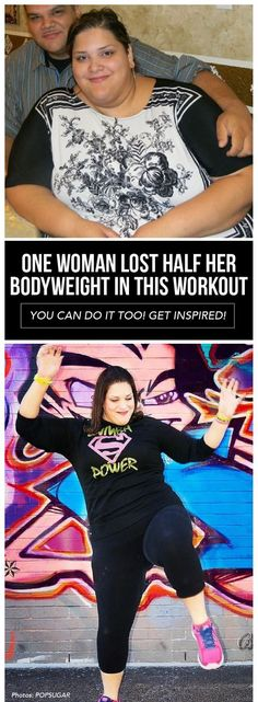 We are inspired by this one woman that lost half her bodyweight with this workout!/women's fitness routines