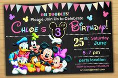 Ratón de Minnie cumpleaños invitación Minnie por SuperBirthdayParty