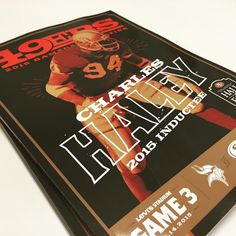 """""""#49ersRGB Gameday Cover featuring the newest 49ers Hall of Famer #CH94."""""""