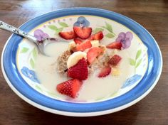 Primal Hot cereal-Good cold too with Blueberries