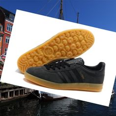 hot sale online 4e164 7a48b Carbon-Sort,Brun Adidas Gazelle Herre Indendørs Gummisko HOT SALE! HOT  PRICE!