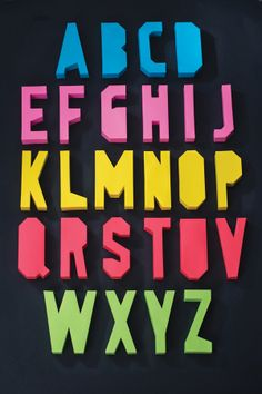 3D Paper Typeface by Andrew Gariepy, via Behance