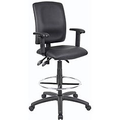 @Overstock.com - Boss LeatherPlus Multi-function Drafting Stool - Lock in your preferred seating angles with this multifunction drafting stool from Boss.  This sleek looking chair is contoured with foam for ultimate comfort while working.  http://www.overstock.com/Office-Supplies/Boss-LeatherPlus-Multi-function-Drafting-Stool/4719268/product.html?CID=214117 $139.99