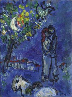 MARC CHAGALL (1887-1985) LES PAYSANS DE VENCE, 1967 Huile sur carton Cachet de la succession Marc Chagall en bas à droite 27 x 20.5 cm - 10.6 x 8.1 in. Stamp of the estate of Marc Chagall lower right Cette… - Cornette de Saint Cyr - 02/07/2015